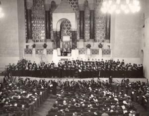 עבודת הקודש בטמפל עמנו-אל, סן פרציסקו 1955